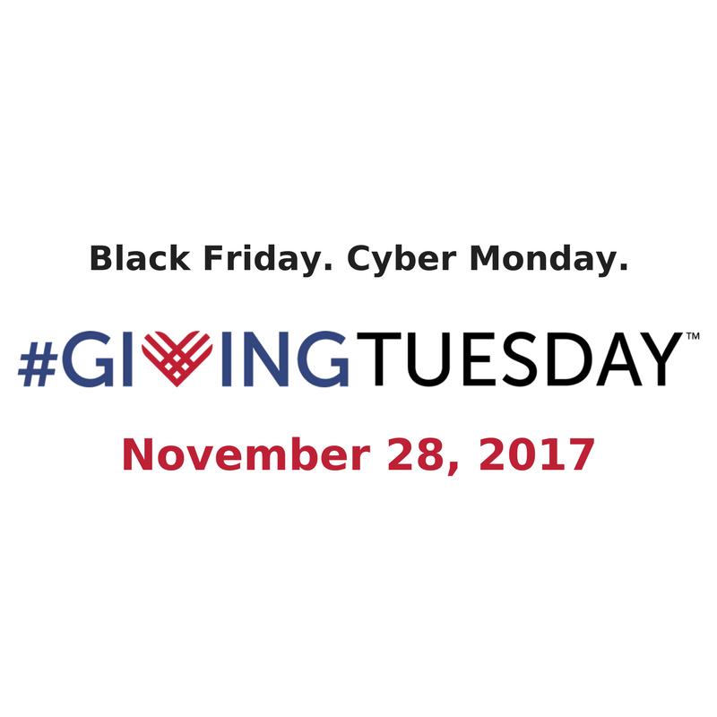 Giving Tuesday 28 Nov 2017